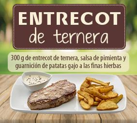 El Entrecot, uno de los nuevos platos de la carta de los Restaurantes Cambalache