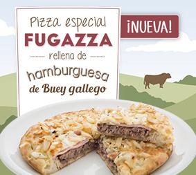 ¡Nueva Pizza Especial Fugazza rellena de Hamburguesa de Buey!