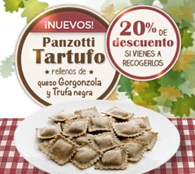 ¡Nuevos Panzotti Tartufo rellenos de queso gorgonzola y trufa negra!