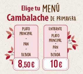 Nuevo Menú de Primavera en los Restaurantes Cambalache
